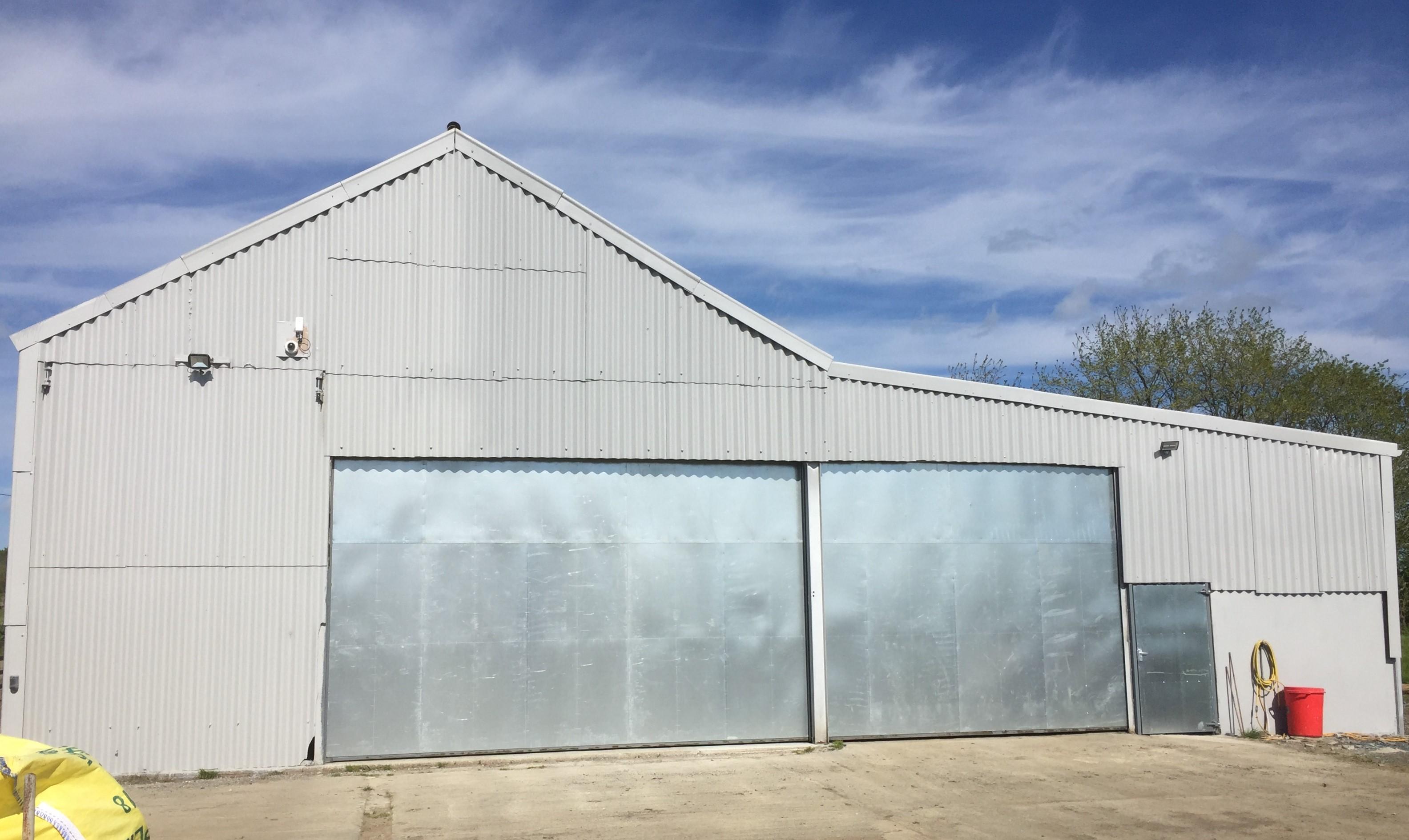 repaired asbestos barn